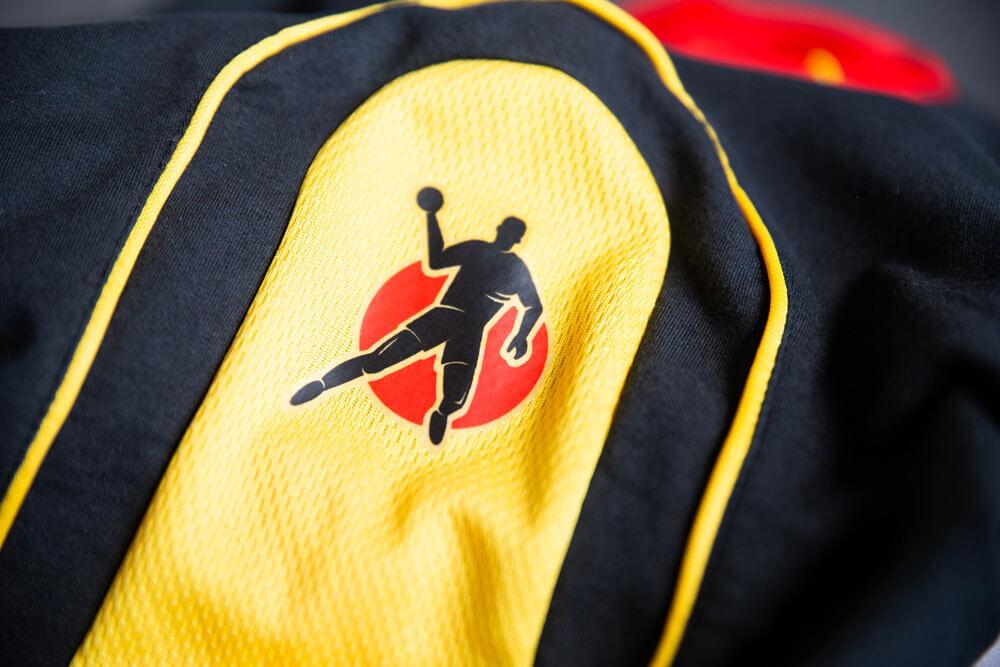 DHB Trikot WM 2005 Tunesien Schulter Kempa Logo