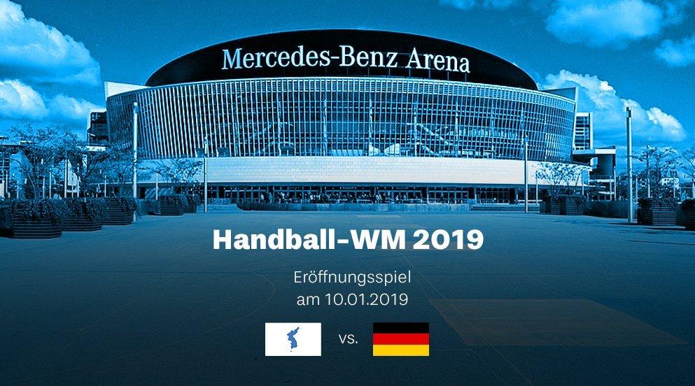 Eröffnungsspiel zwischen Deutschland und Korea bei der Handball WM 2019 in der Mercedes Benz Arena in Berlin