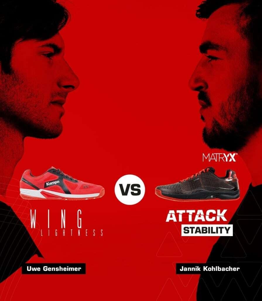Wing vs. Attack Kempa Handballschuhe 2019