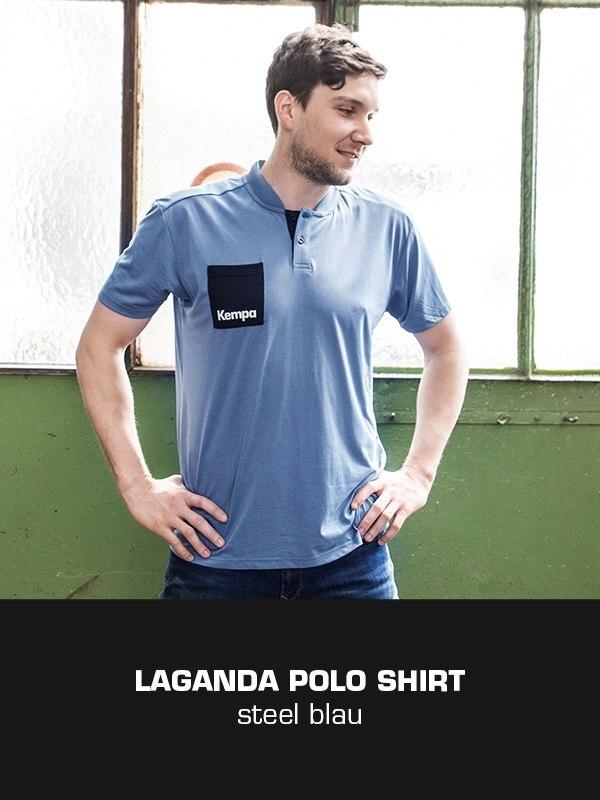 LAGANDA Kempa Freizeitkollektion - Polo Shirt getragen von Daniel Rebmann
