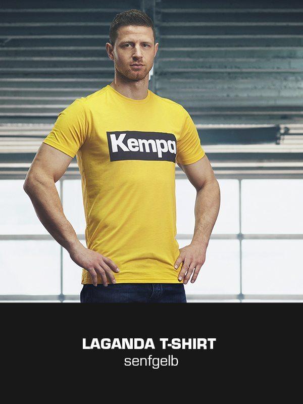 LAGANDA Kempa Freizeitkollektion - T-Shirt getragen von Martin Strobel