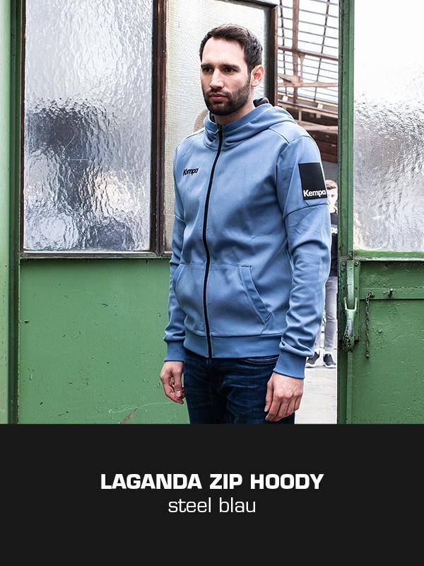 LAGANDA Kempa Freizeitkollektion - ZIP Jacke getragen von Dominik Schmid