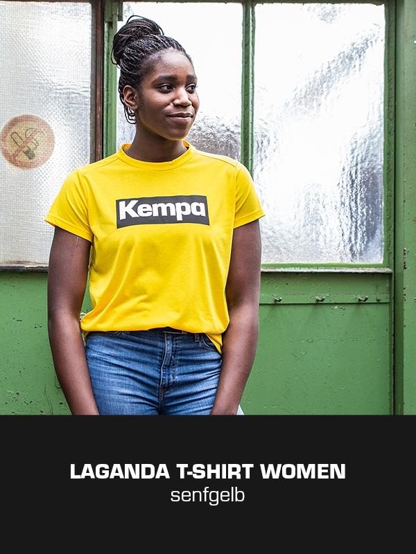 LAGANDA Kempa Freizeitkollektion - T-Shirt getragen von Laetitia Quist