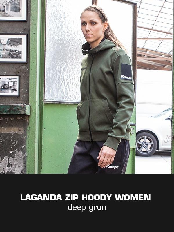 LAGANDA Kempa Freizeitkollektion - ZIP Jacke getragen von Xenia Smits