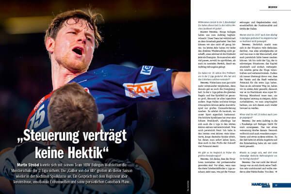 Handball Inside #28 4/2019 - Interview Martin Strobel - Steuerung verträgt keine Hektik