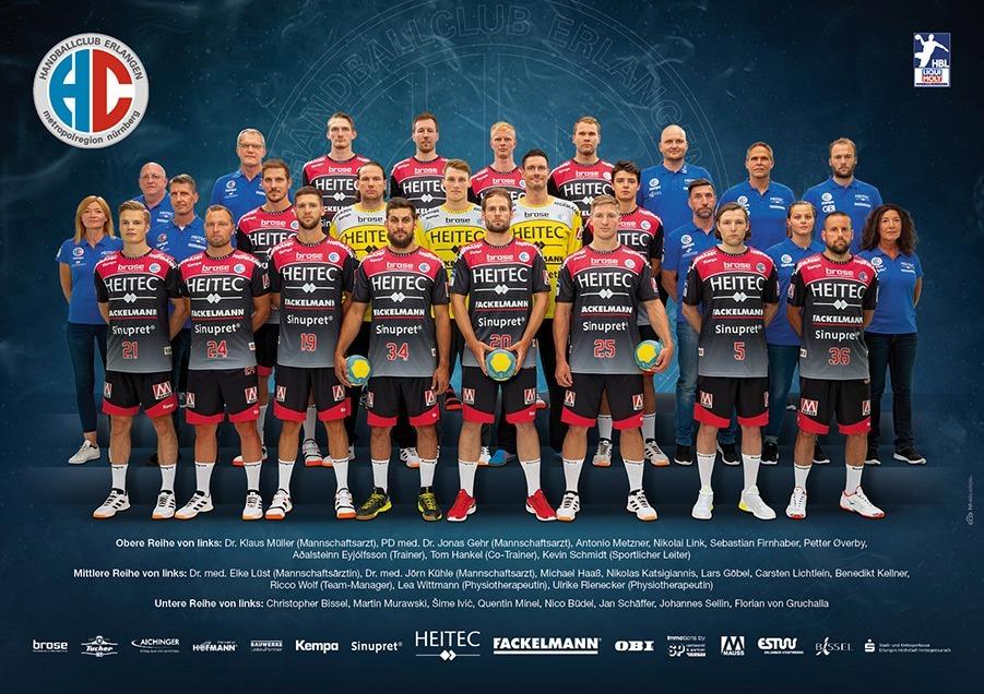 Das Team des HC Erlangen in der Saison 2019/20