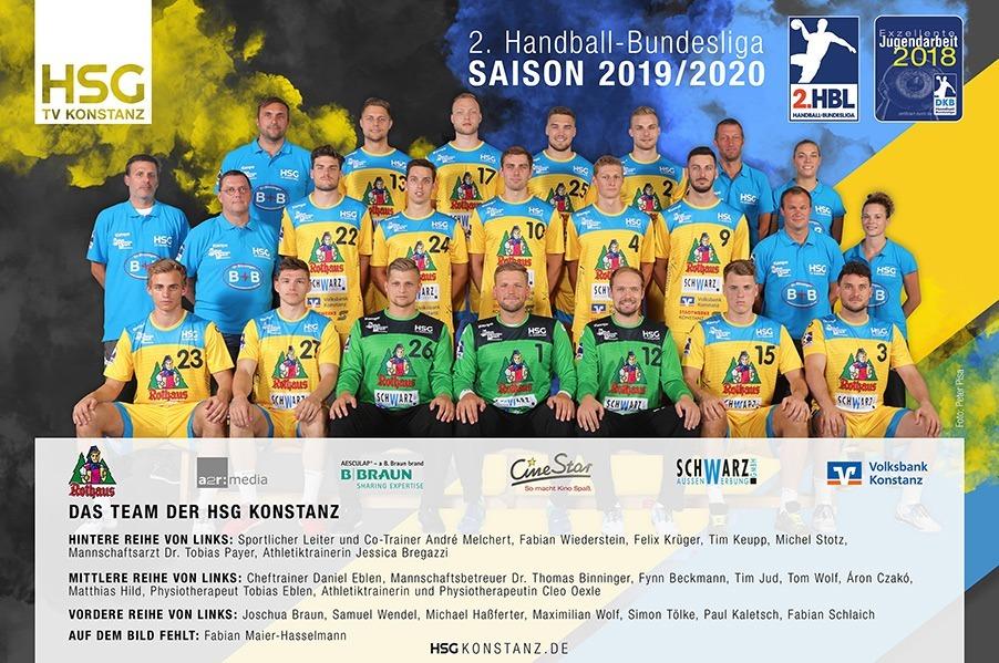 Das Team der HSG Konstanz in der Saison 2019/20