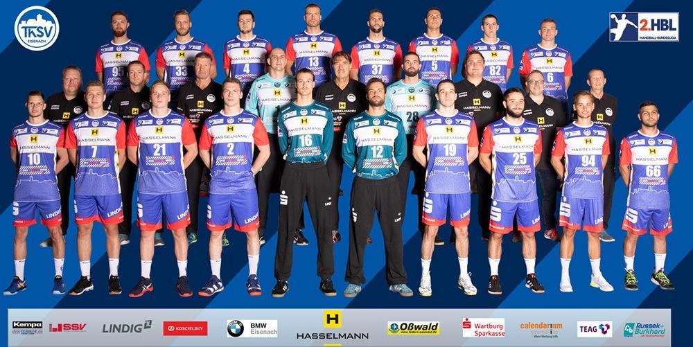 Das Team des ThSV Eisenach in der Saison 2019/20