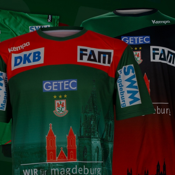 Die trikots von Kempa und dem SC Magdeburg