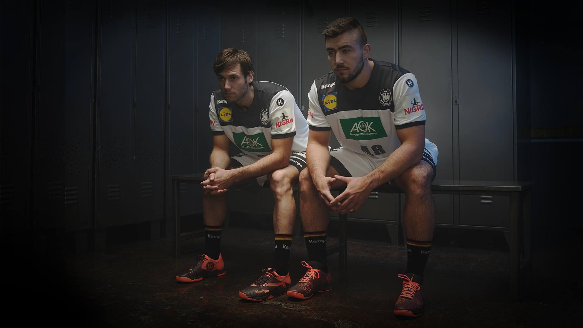 Uwe Gensheimer und Jannick Kohlbacher bei der EURO für die deutsche Nationalmannschaft
