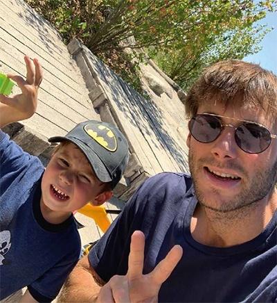 Uwe Gensheimer mit Sohn Matti