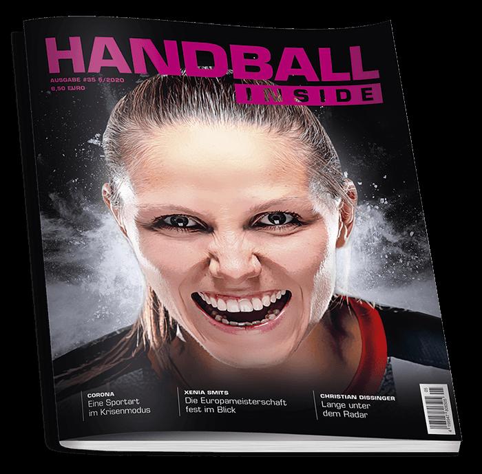 Xenia Smits auf dem Cover der Handball Inside