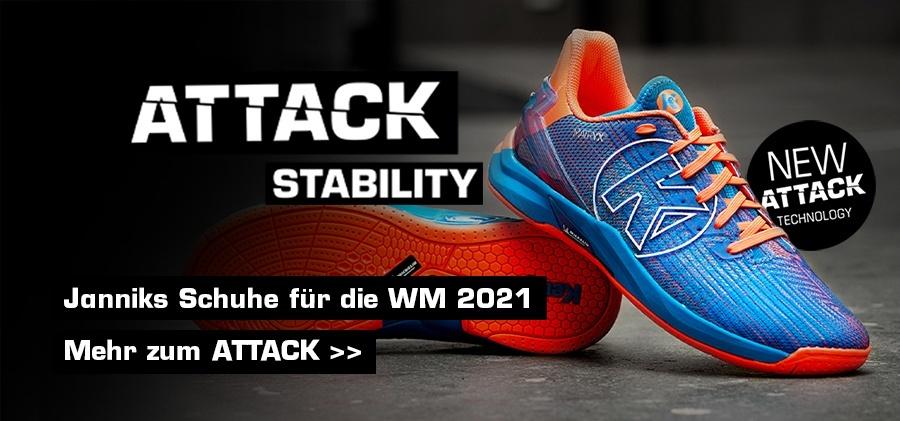 Jannik Kohlbachers Schuhe für die Handball WM 2021 - ATTACK