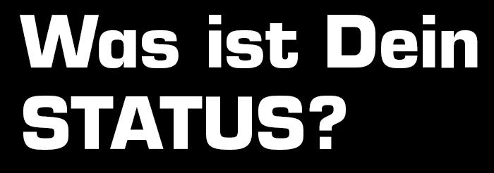 Schriftzug: Was ist Dein Status?