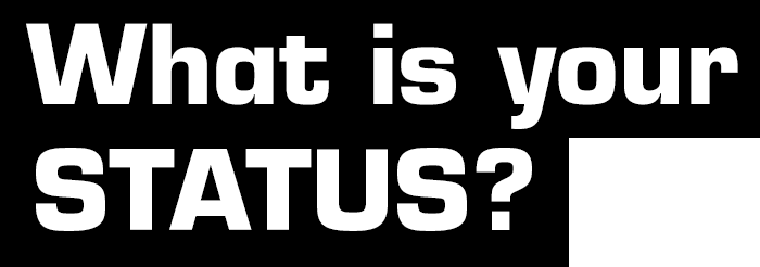 Text: What is your STATUS?